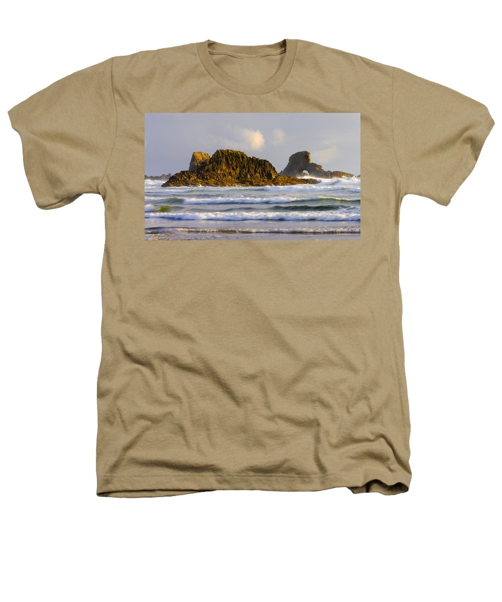 Seastacks Heathers T-Shirt featuring the photograph Eye Of The Storm by Mike Dawson
