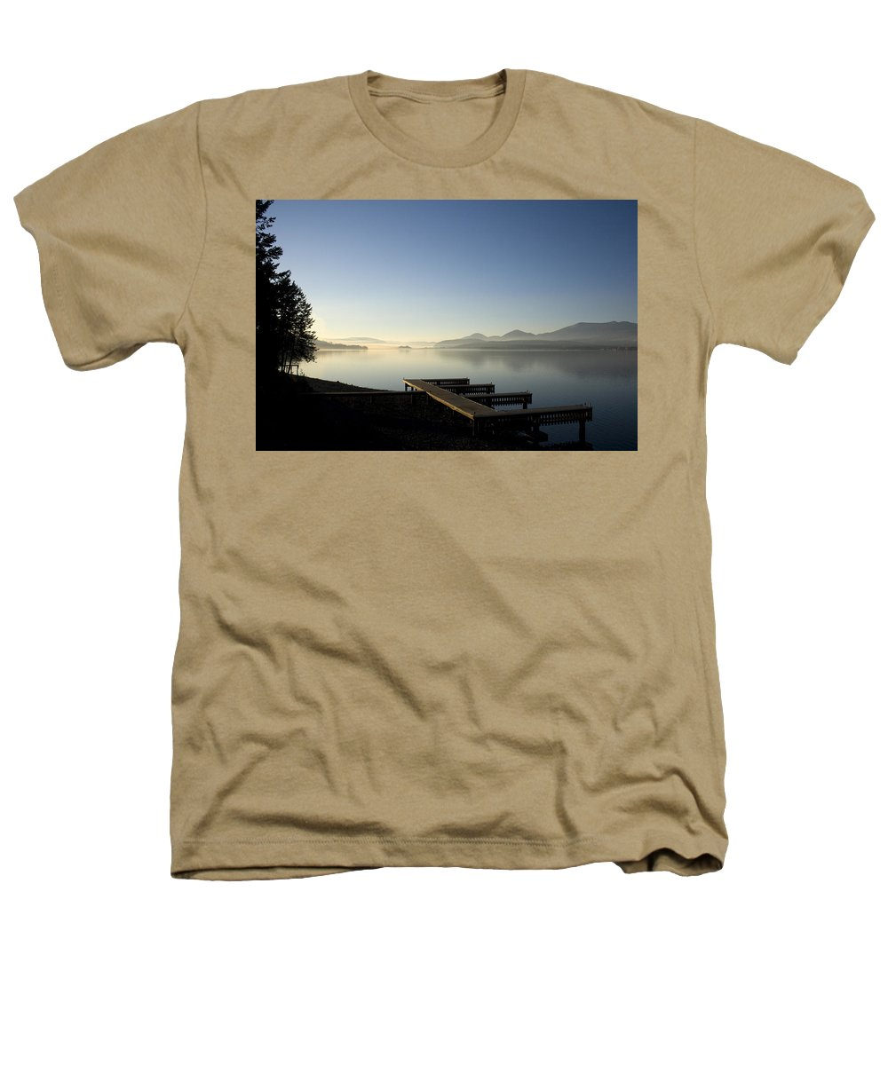 Landscape Heathers T-Shirt featuring the photograph Fall Evening by Lee Santa