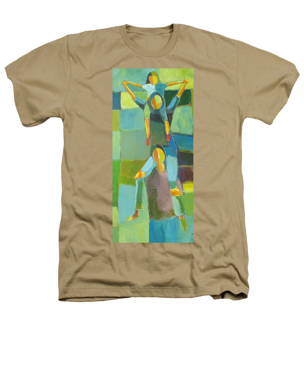 Abstract Heathers T-Shirt featuring the painting Family Joy by Habib Ayat