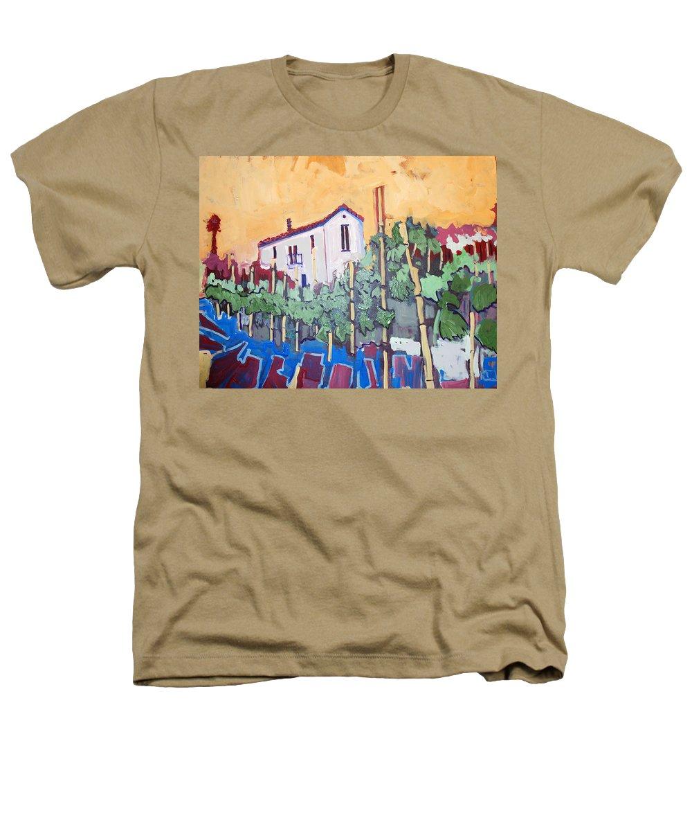 Farm House Heathers T-Shirt featuring the painting Farm House by Kurt Hausmann