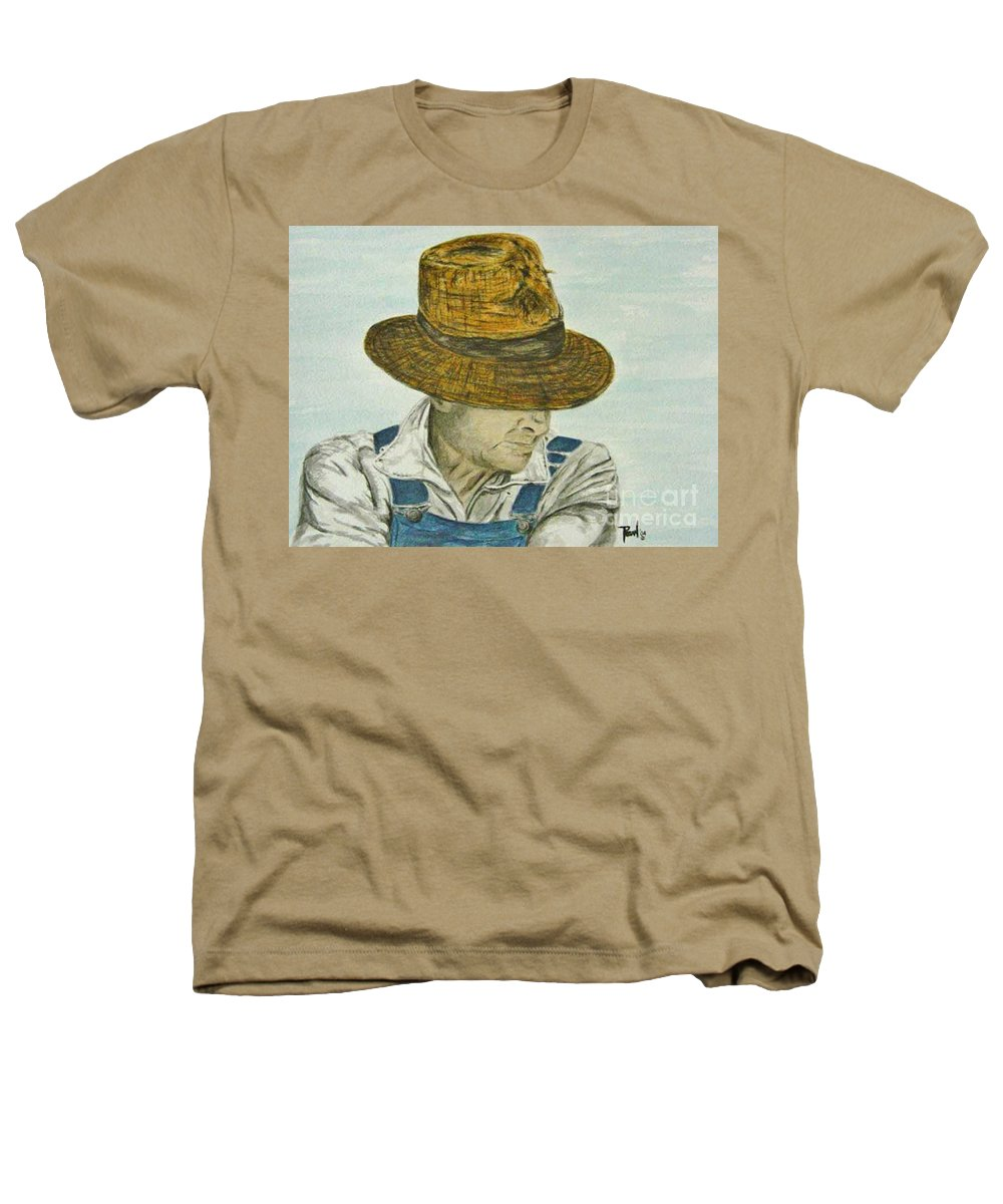 Portrait Heathers T-Shirt featuring the painting Farmer Ted by Regan J Smith