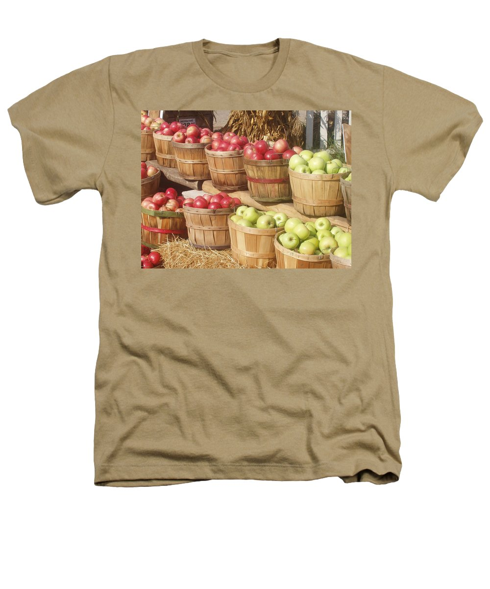 Farmers Market Heathers T-Shirt featuring the photograph Farmer's Market Apples by Wayne Potrafka