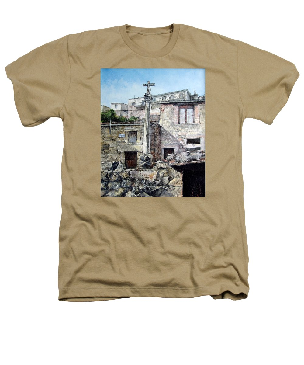 Fermoselle Heathers T-Shirt featuring the painting Fermoselle.-crucero by Tomas Castano