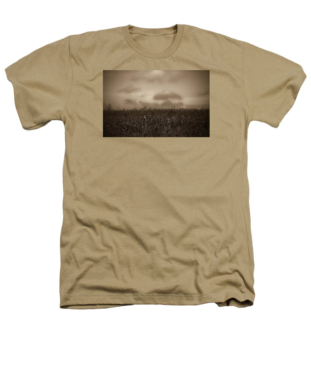 Poland Heathers T-Shirt featuring the photograph Field In Sepia Northern Poland by Michael Ziegler