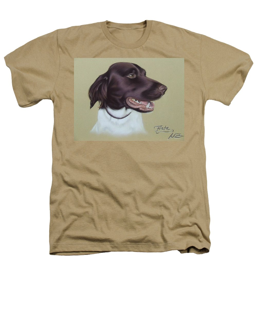 Dog Heathers T-Shirt featuring the pastel Fiete by Nicole Zeug