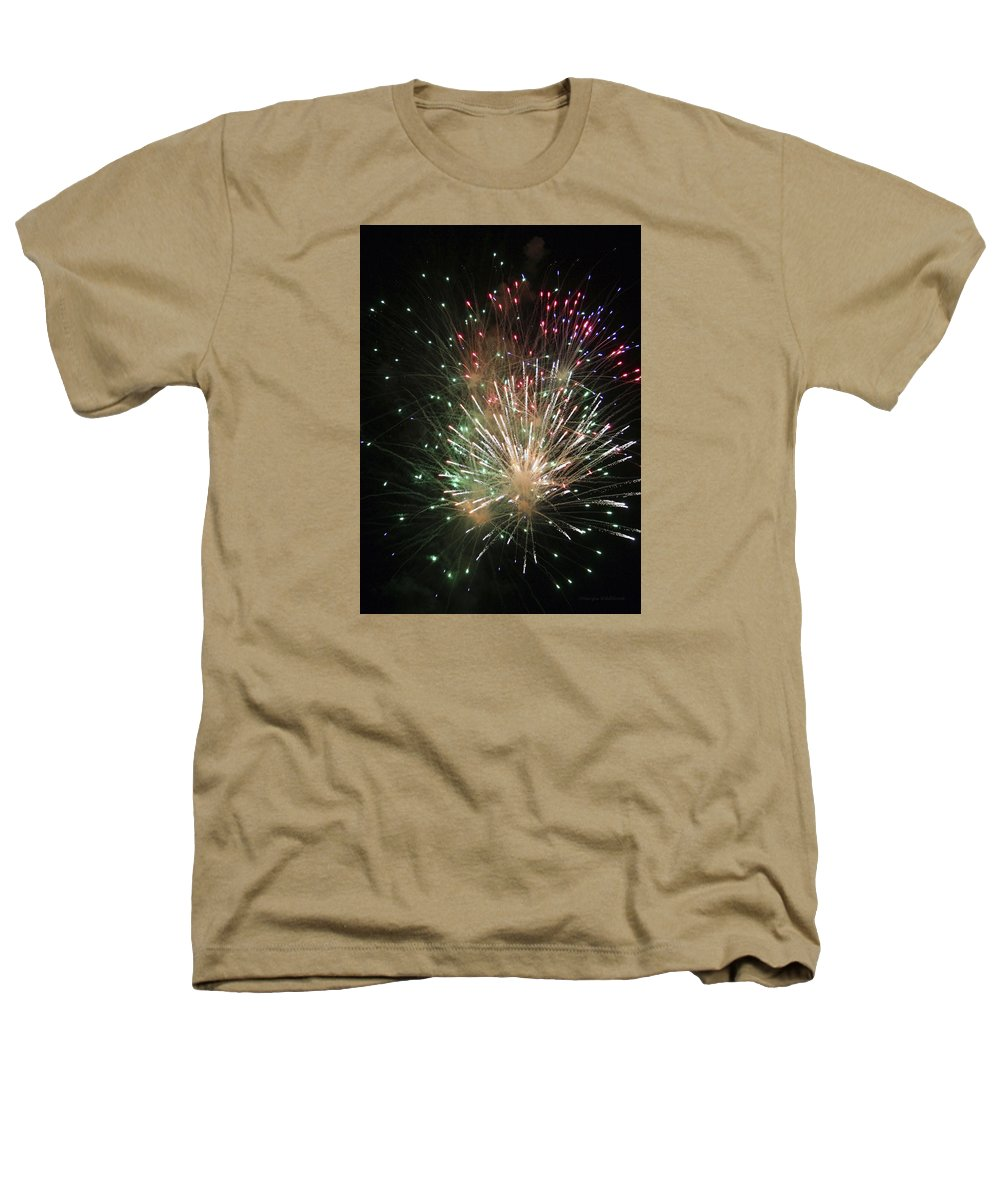 Fireworks Heathers T-Shirt featuring the photograph Fireworks by Margie Wildblood