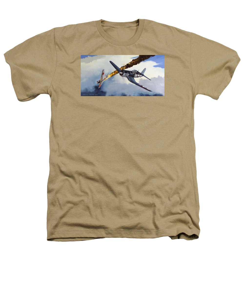 Military Heathers T-Shirt featuring the painting First Kill For The Jolly Rogers by Marc Stewart