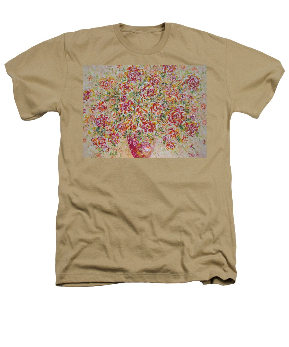 Flowers. Floral Heathers T-Shirt featuring the painting First Love Flowers by Natalie Holland