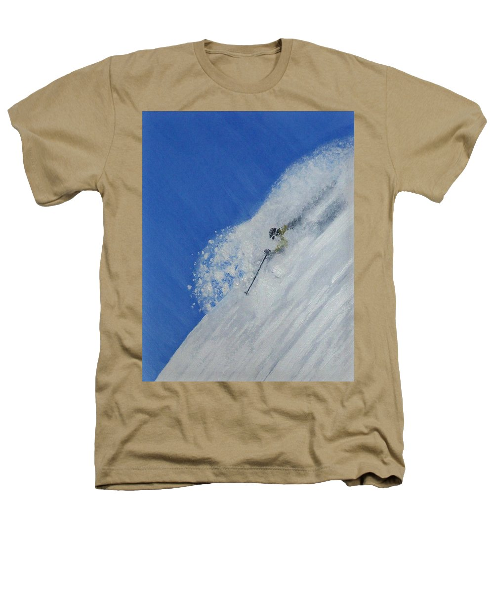 Ski Heathers T-Shirt featuring the painting First by Michael Cuozzo