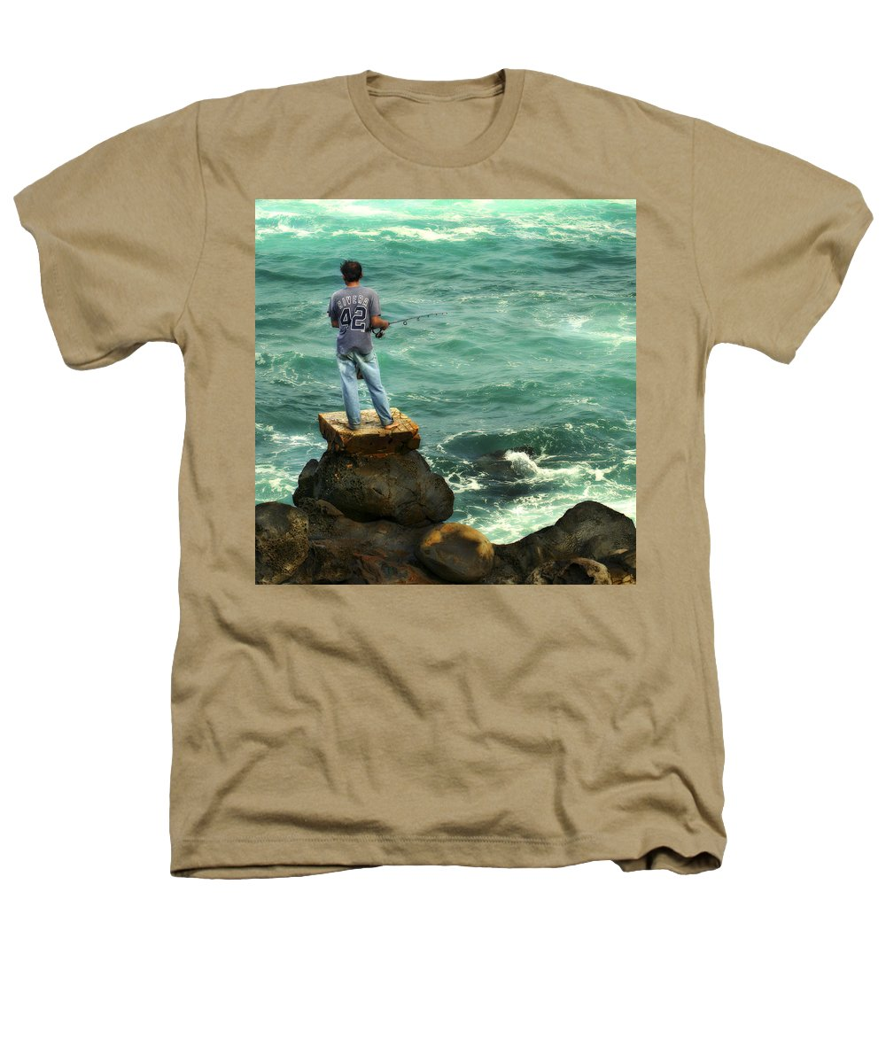 Americana Heathers T-Shirt featuring the photograph Fisherman by Marilyn Hunt