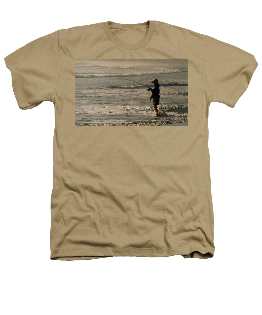 Fisherman Heathers T-Shirt featuring the photograph Fisherman by Steve Karol