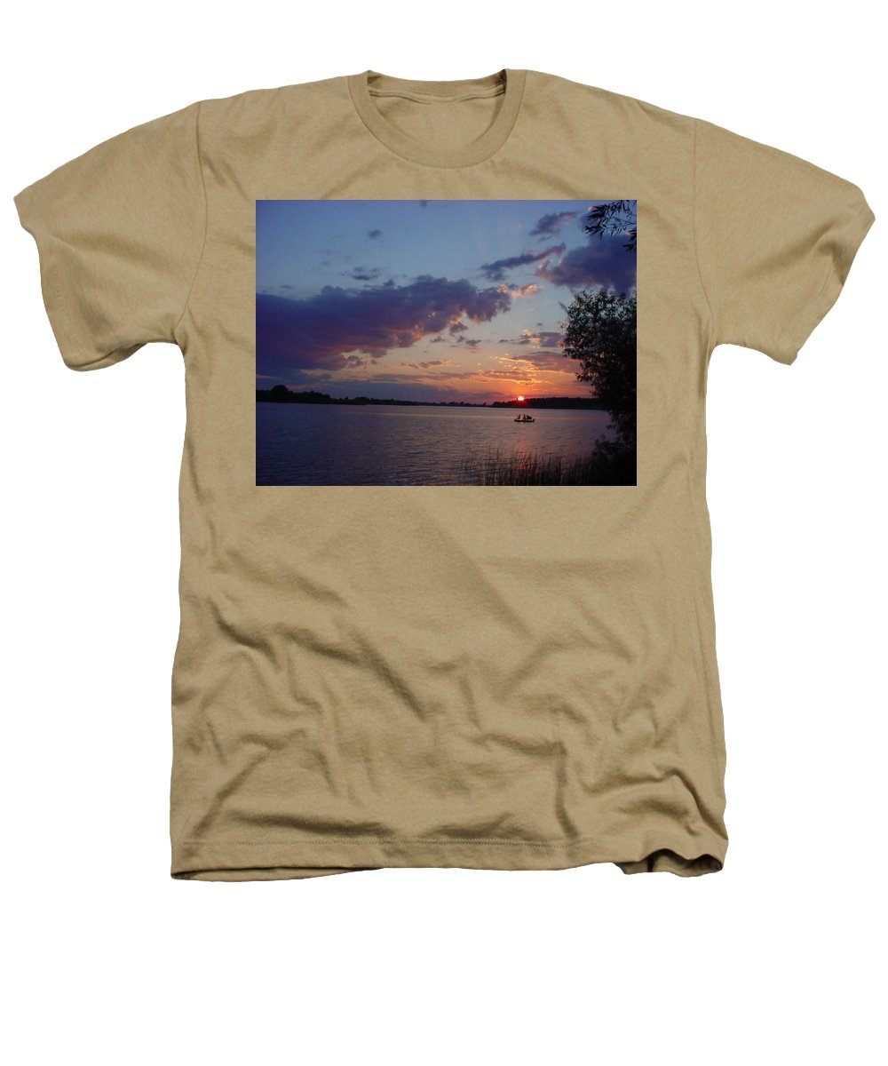 St.lawrence River Heathers T-Shirt featuring the photograph Fishing On The St.lawrence River. by Jerrold Carton
