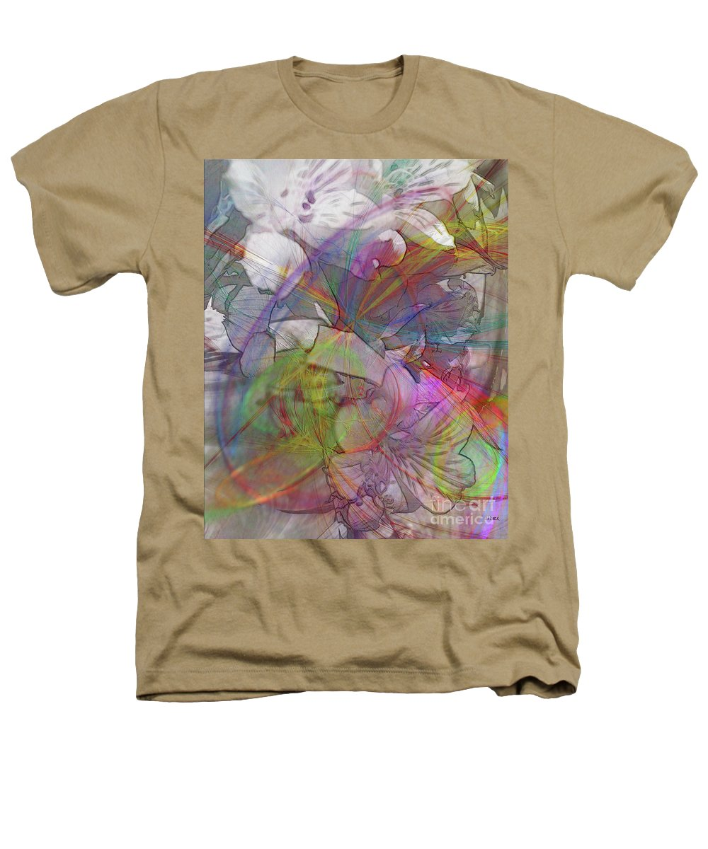 Floral Fantasy Heathers T-Shirt featuring the digital art Floral Fantasy by John Beck