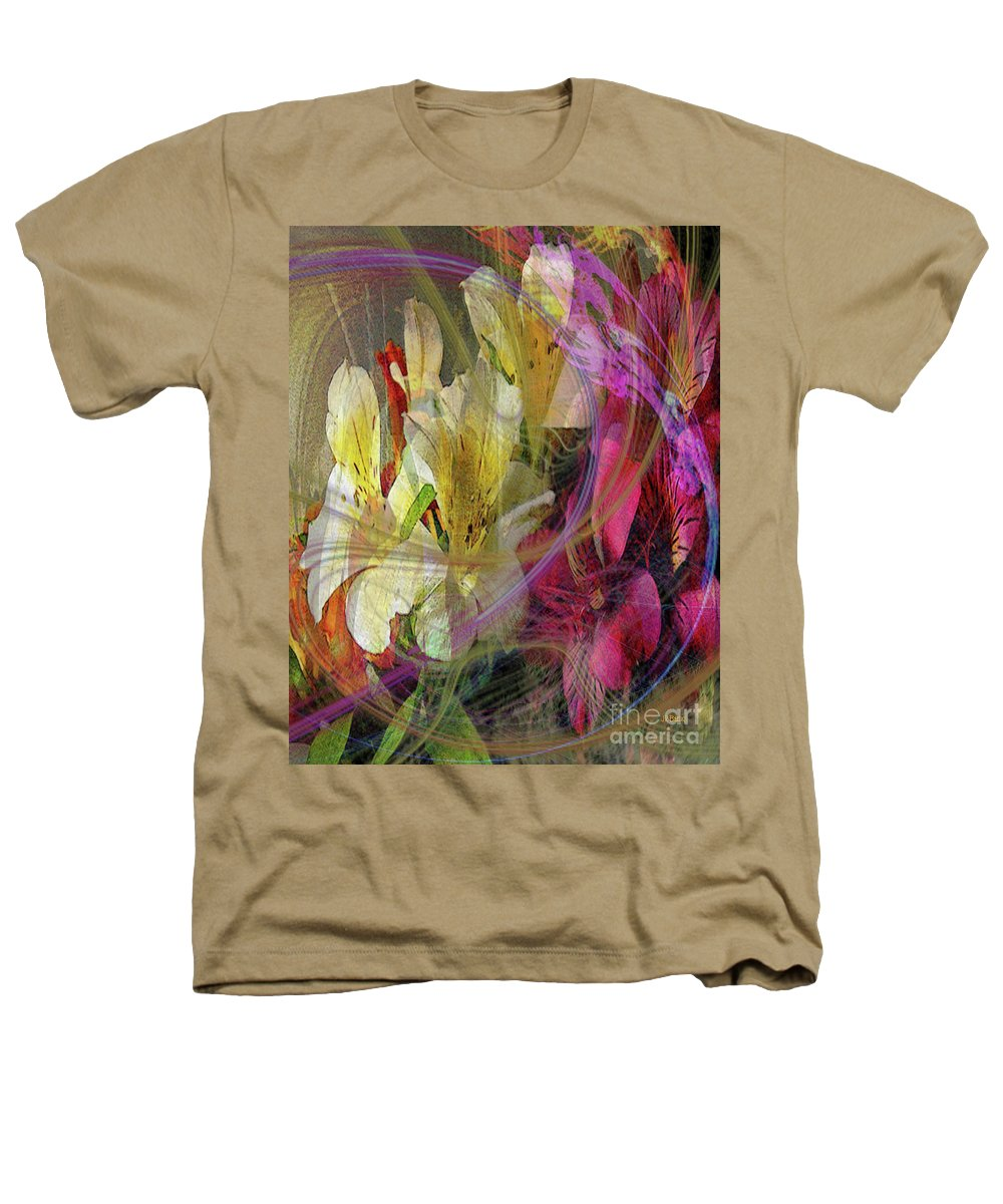 Floral Inspiration Heathers T-Shirt featuring the digital art Floral Inspiration by John Beck