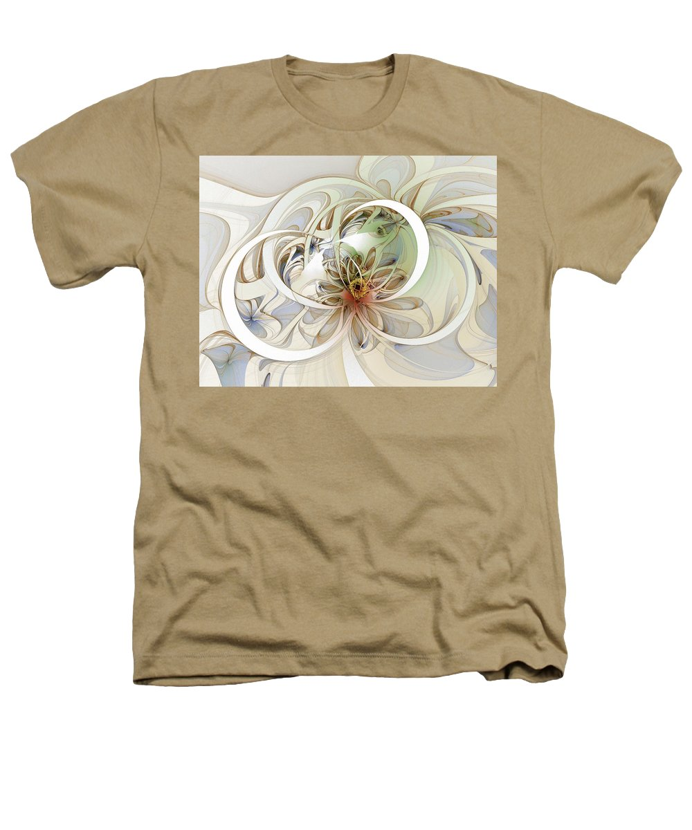 Digital Art Heathers T-Shirt featuring the digital art Floral Swirls by Amanda Moore