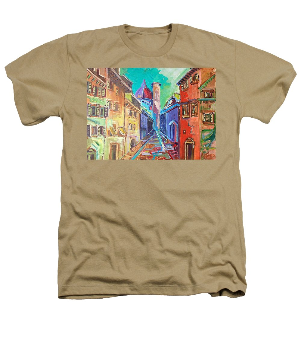 City Heathers T-Shirt featuring the painting Florence by Kurt Hausmann