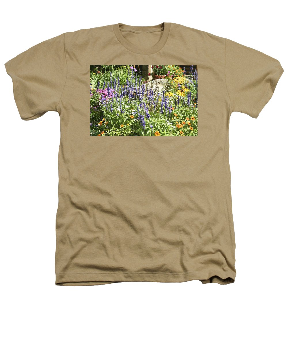 Flower Heathers T-Shirt featuring the photograph Flower Garden by Margie Wildblood