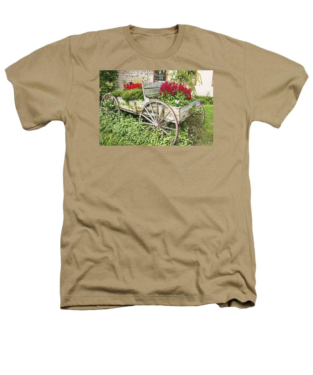 Wagon Heathers T-Shirt featuring the photograph Flower Wagon by Margie Wildblood