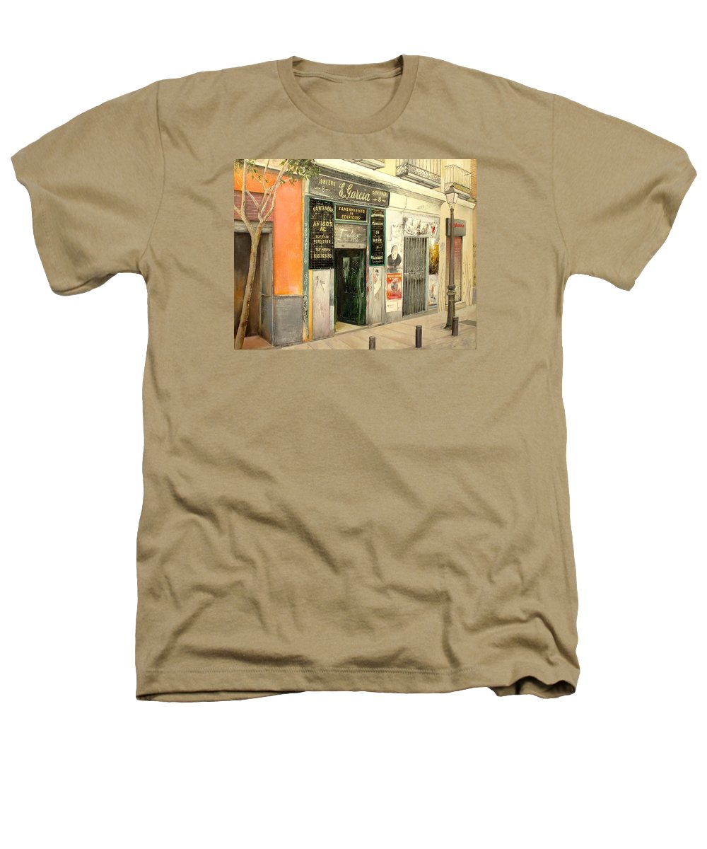 Streetscene Heathers T-Shirt featuring the painting Fontaneria E.garcia by Tomas Castano