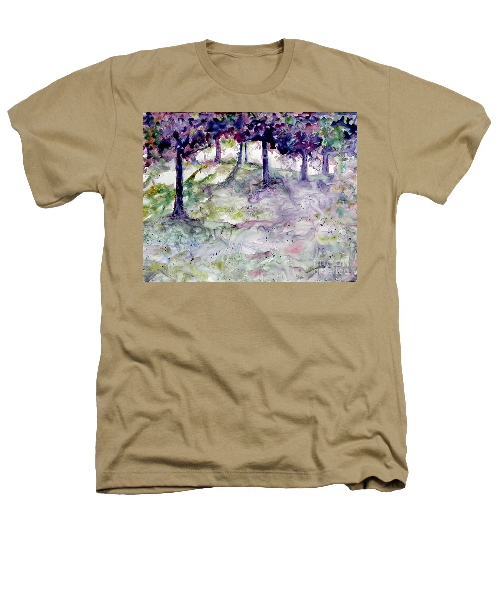 Fastasy Heathers T-Shirt featuring the painting Forest Fantasy by Jan Bennicoff