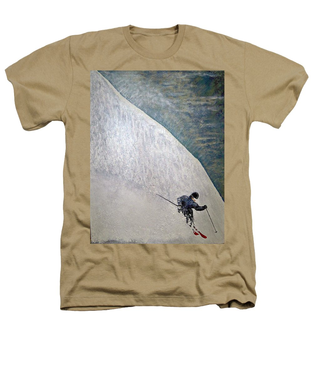 Landscape Heathers T-Shirt featuring the painting Form by Michael Cuozzo