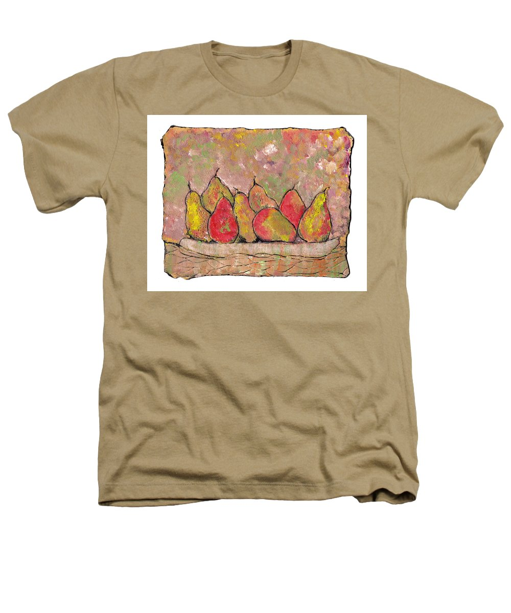 Pears Heathers T-Shirt featuring the painting Four Pair Of Pears by Wayne Potrafka