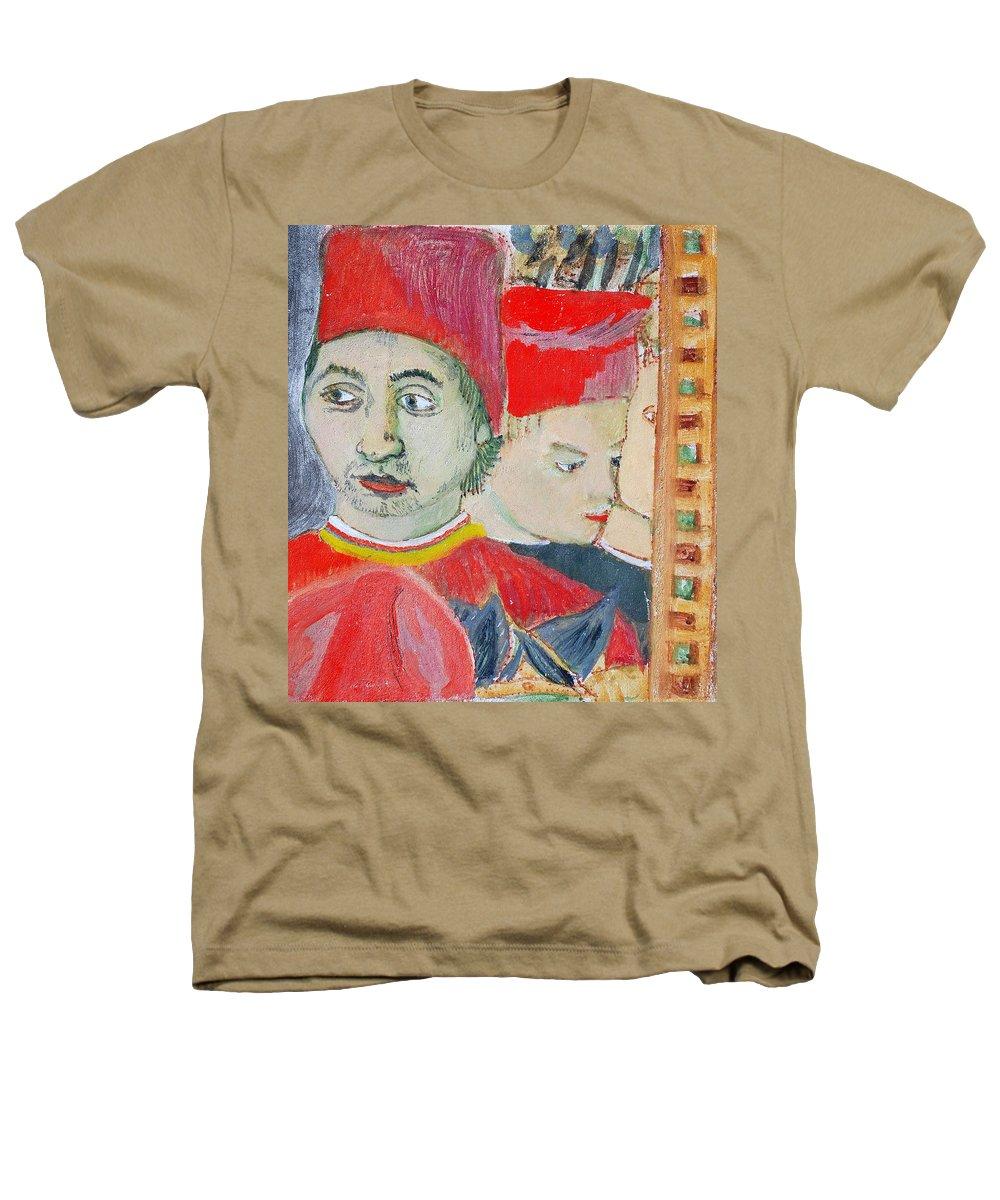 Italian Heathers T-Shirt featuring the painting Fratello by Kurt Hausmann