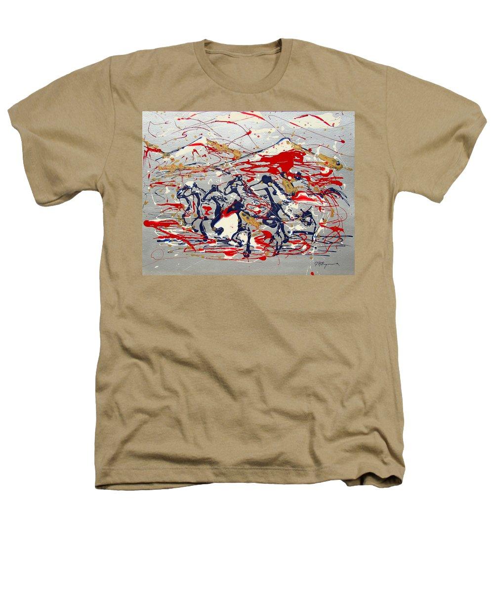 Freedom On The Open Range Heathers T-Shirt featuring the painting Freedom On The Open Range by J R Seymour