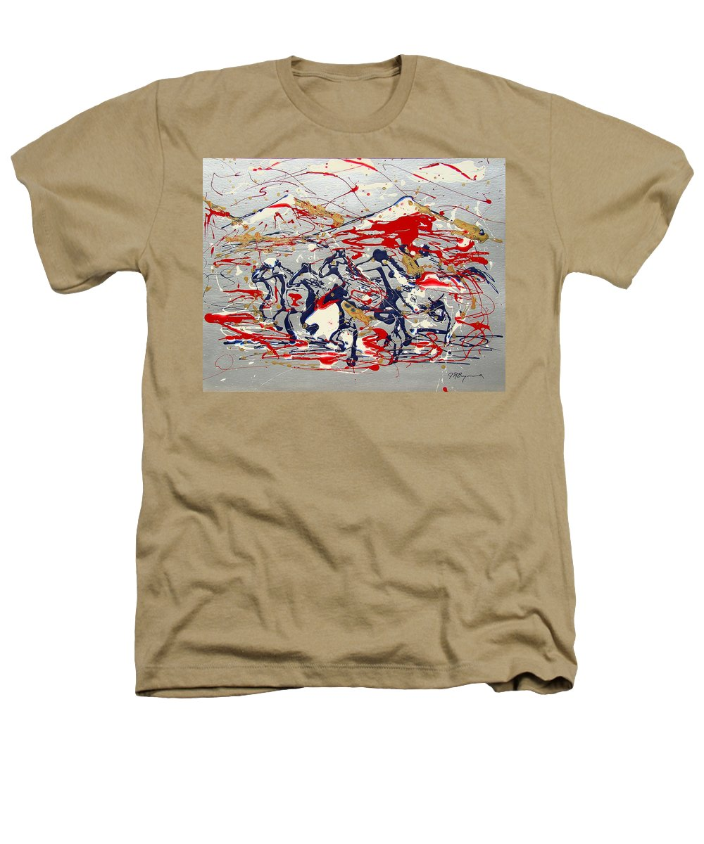 Freedom On The Open Range Heathers T-Shirt featuring the painting Freedom On The Open Range by J R Seymour
