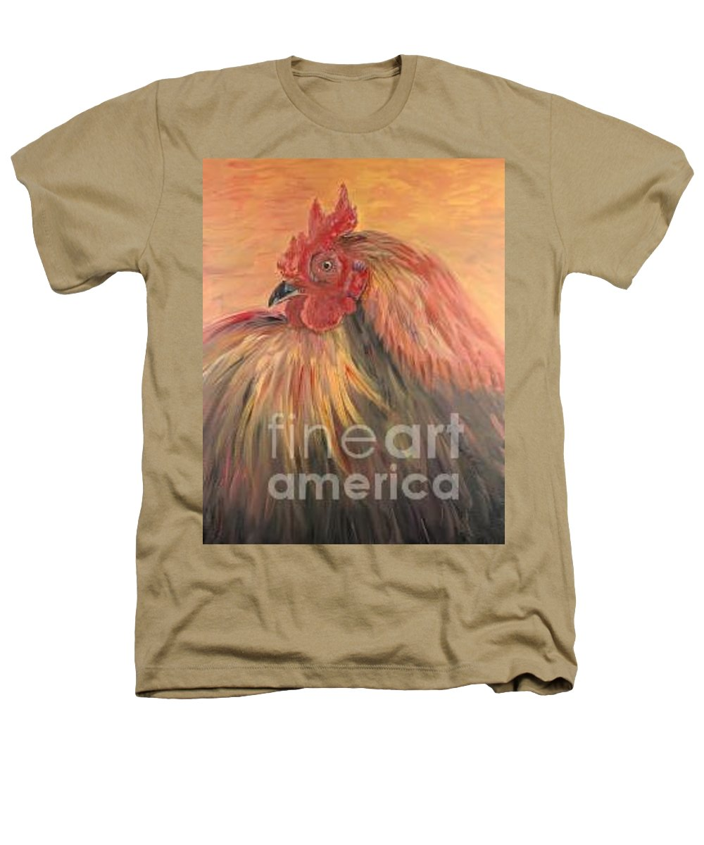 Rooster Heathers T-Shirt featuring the painting French Country Rooster by Nadine Rippelmeyer