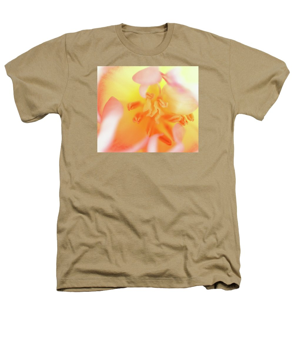 Internal Beauty Of A Tulip Heathers T-Shirt featuring the photograph From The Heart by Bill Morgenstern