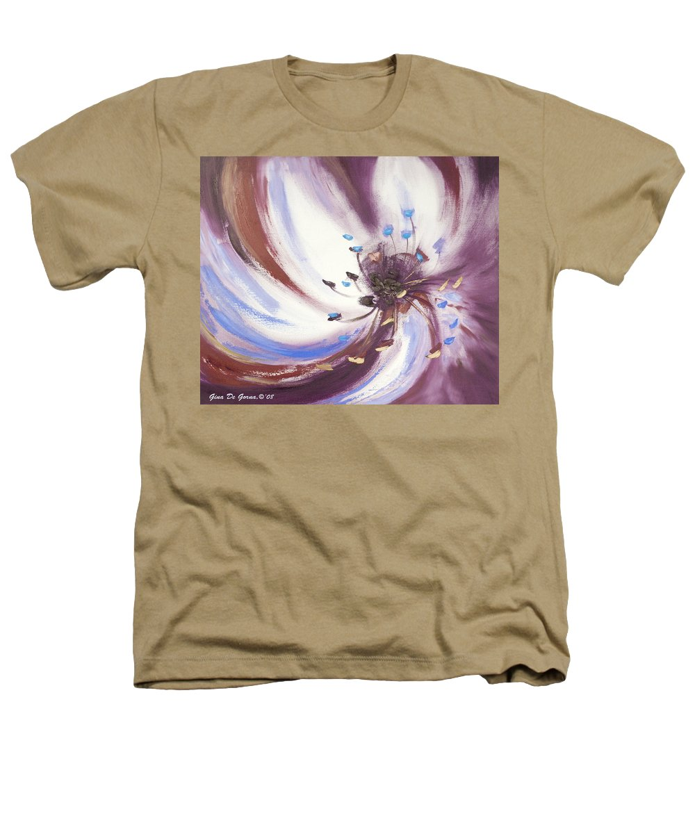 Brown Heathers T-Shirt featuring the painting From The Heart Of A Flower Brown 2 by Gina De Gorna