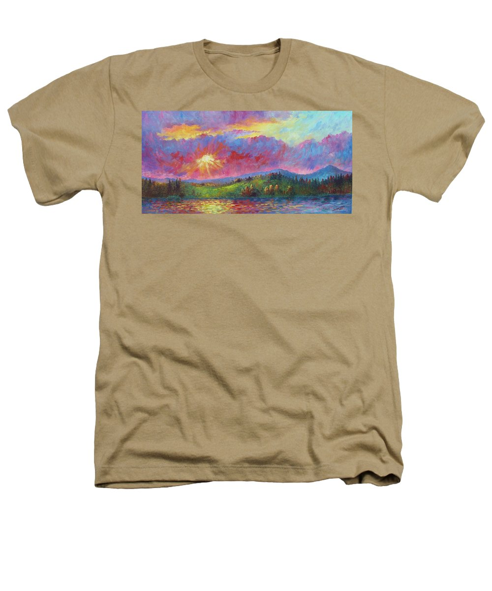 Landscape Heathers T-Shirt featuring the painting Front Range Sunset by David G Paul