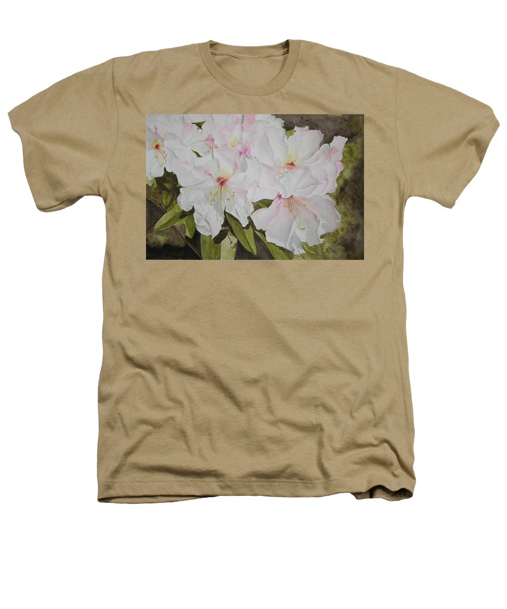 Flowers Heathers T-Shirt featuring the painting Full Bloom by Jean Blackmer