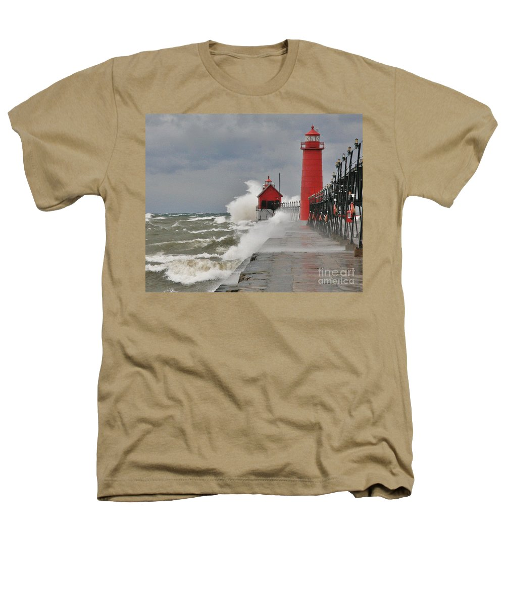 Light House Heathers T-Shirt featuring the photograph Gale Warnings by Robert Pearson