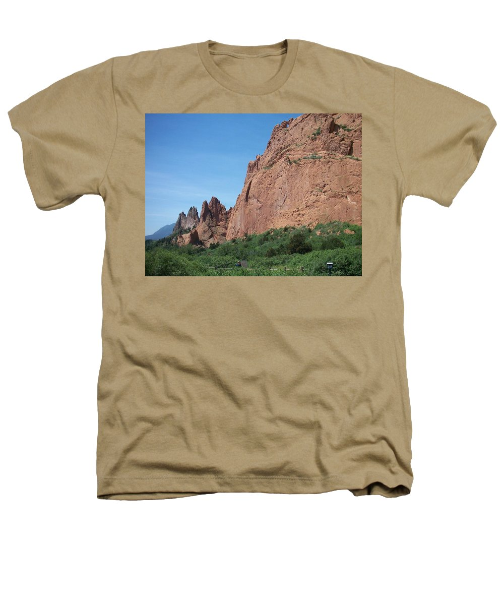 Colorado Heathers T-Shirt featuring the photograph Garden Of The Gods by Anita Burgermeister