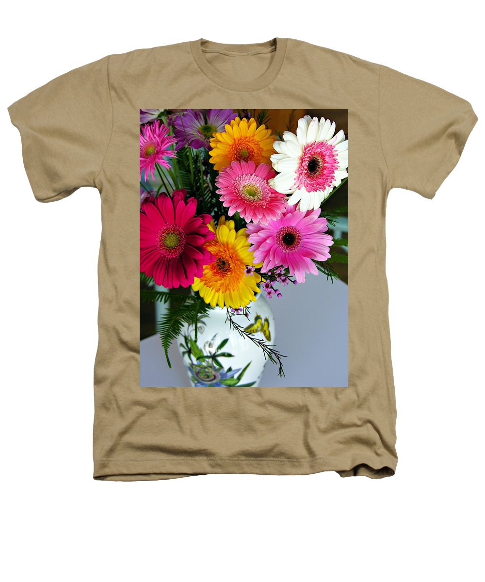 Flower Heathers T-Shirt featuring the photograph Gerbera Daisy Bouquet by Marilyn Hunt