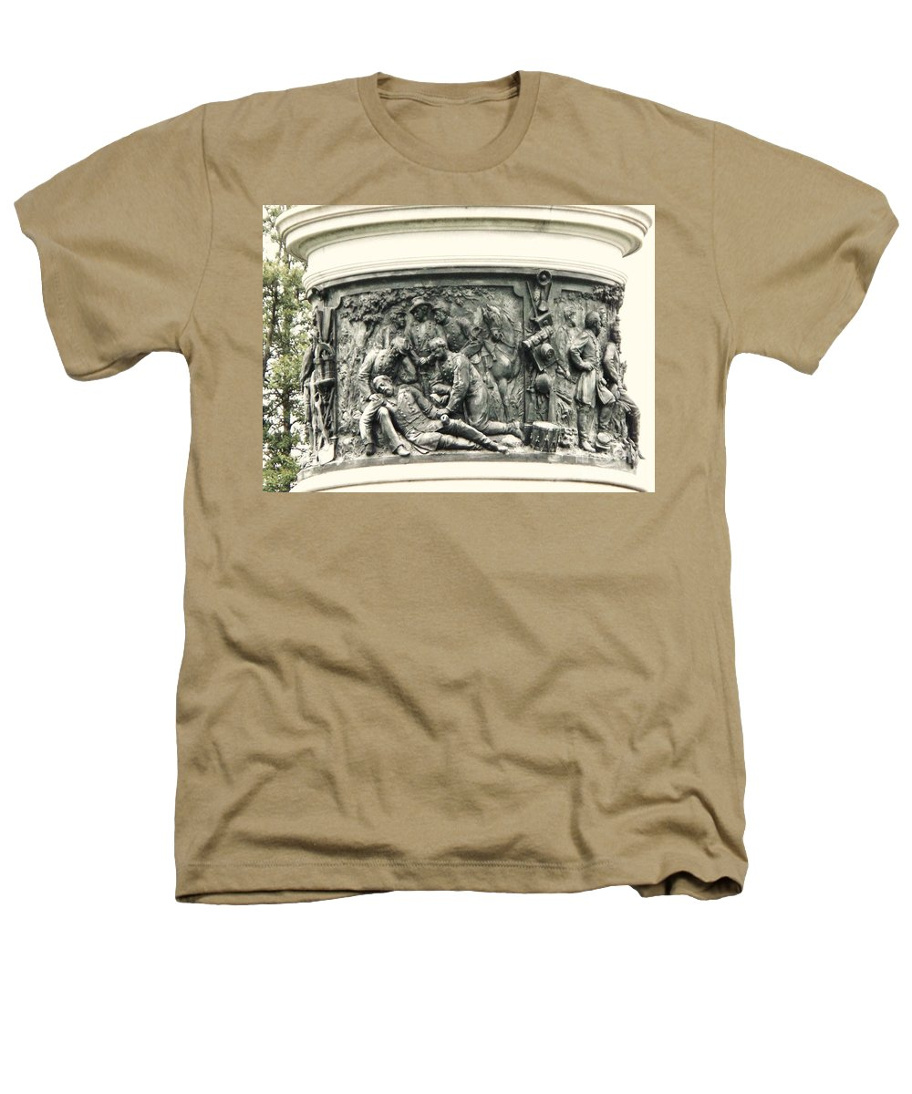Gettysburg Heathers T-Shirt featuring the photograph Gettysburg Monument by Eric Schiabor