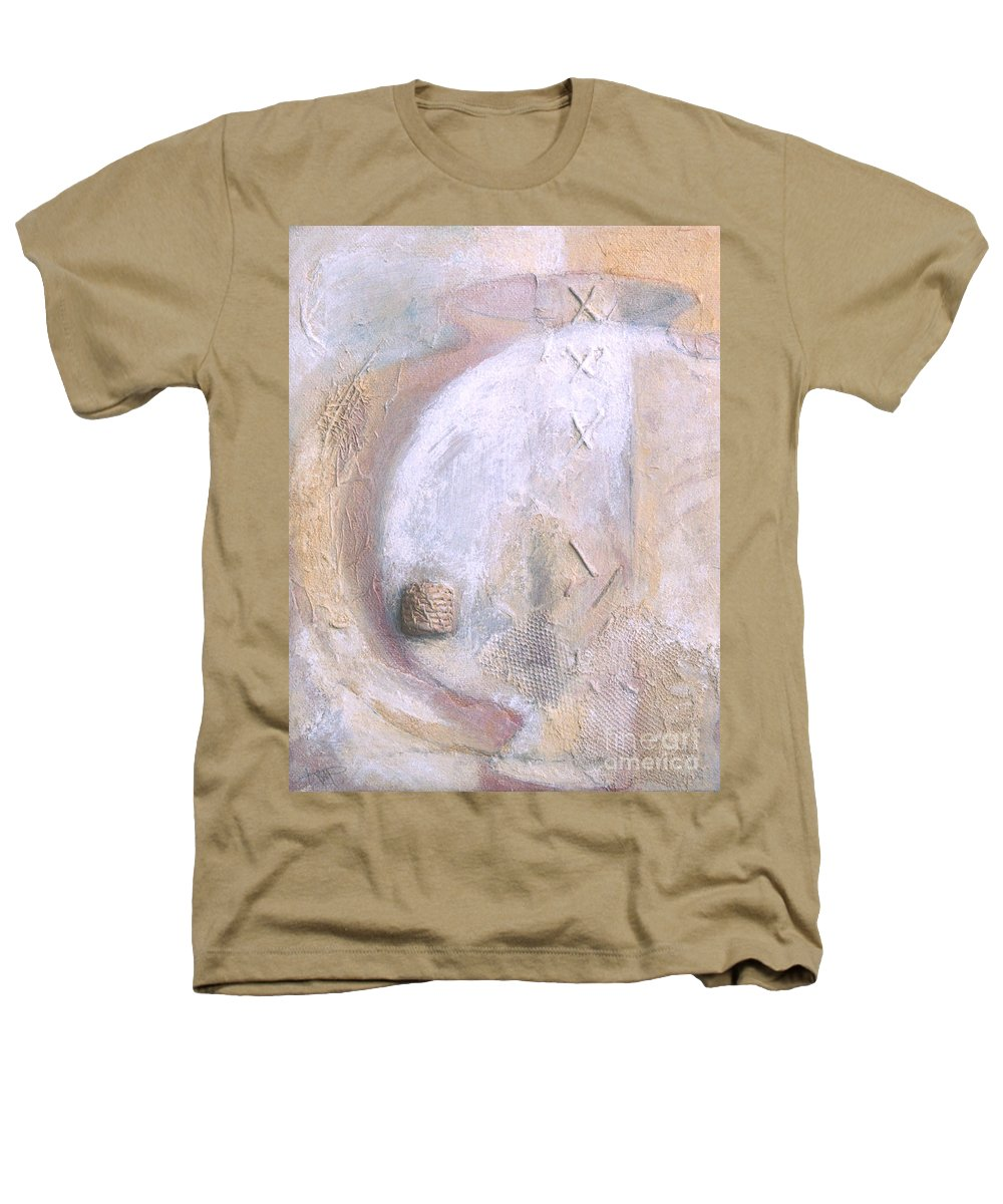 Collage Heathers T-Shirt featuring the painting Give And Receive by Kerryn Madsen-Pietsch