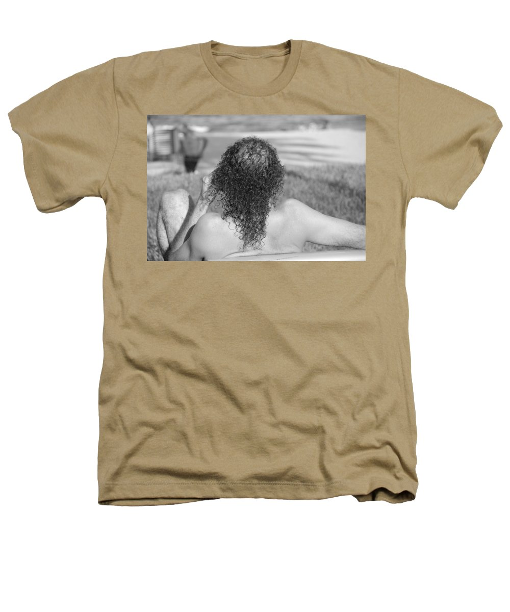 Black And White Heathers T-Shirt featuring the photograph Give It Up Dude by Rob Hans