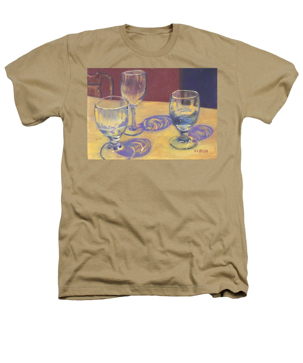Glasses Heathers T-Shirt featuring the painting Glasslights by Sharon E Allen