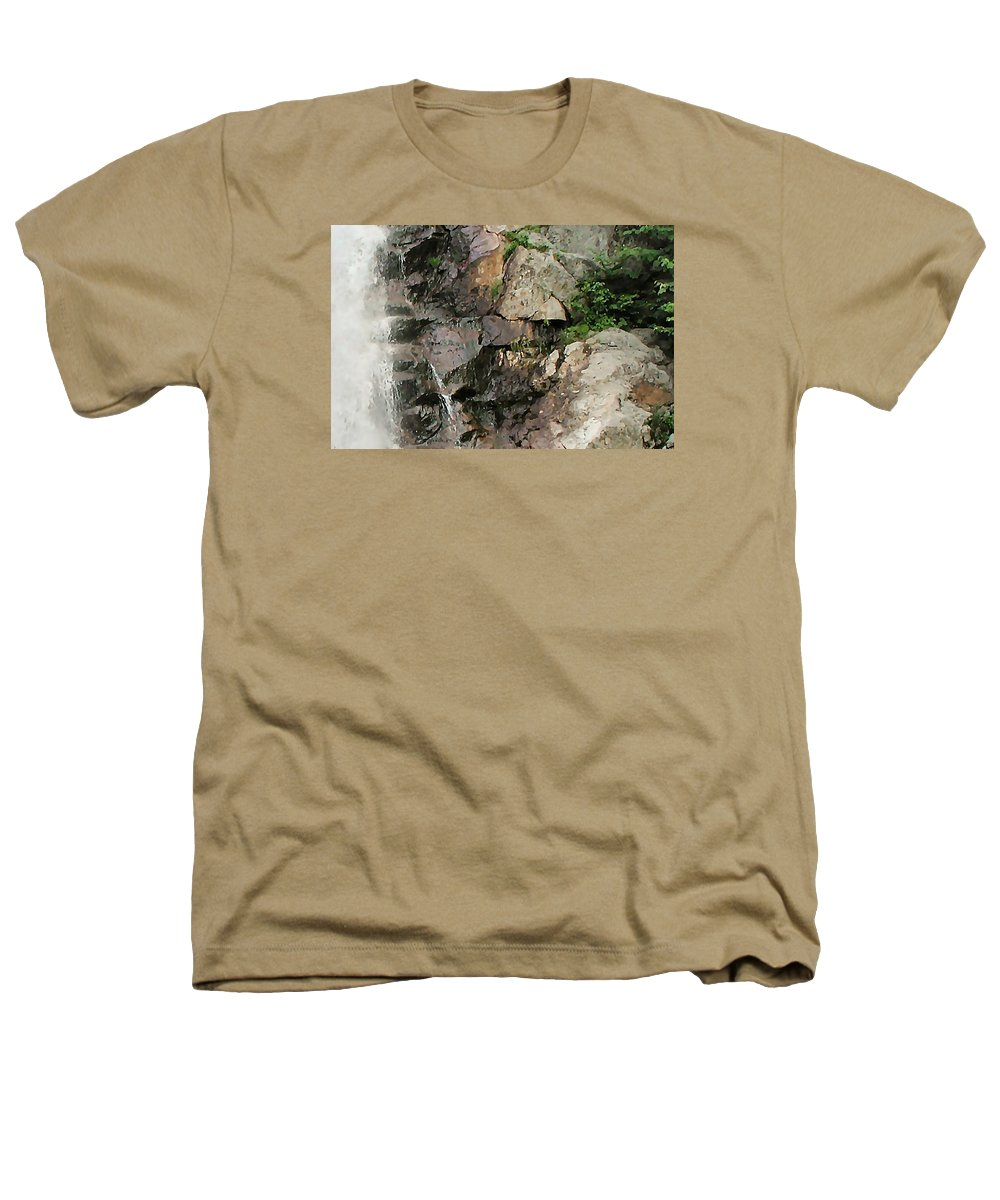 Waterfall Heathers T-Shirt featuring the photograph Glen Falls Abstract by Dave Martsolf