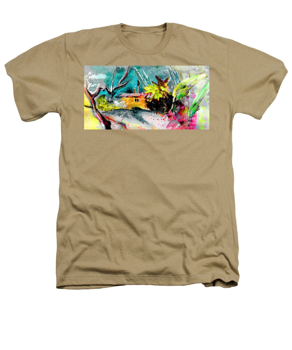 Pastel Painting Heathers T-Shirt featuring the painting Glory Of Nature by Miki De Goodaboom
