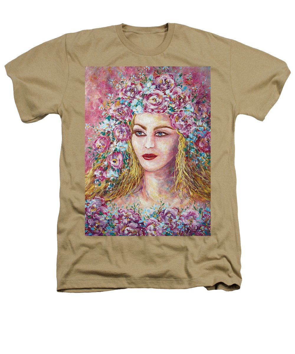 Goddess Of Good Fortune Heathers T-Shirt featuring the painting Goddess Of Good Fortune by Natalie Holland