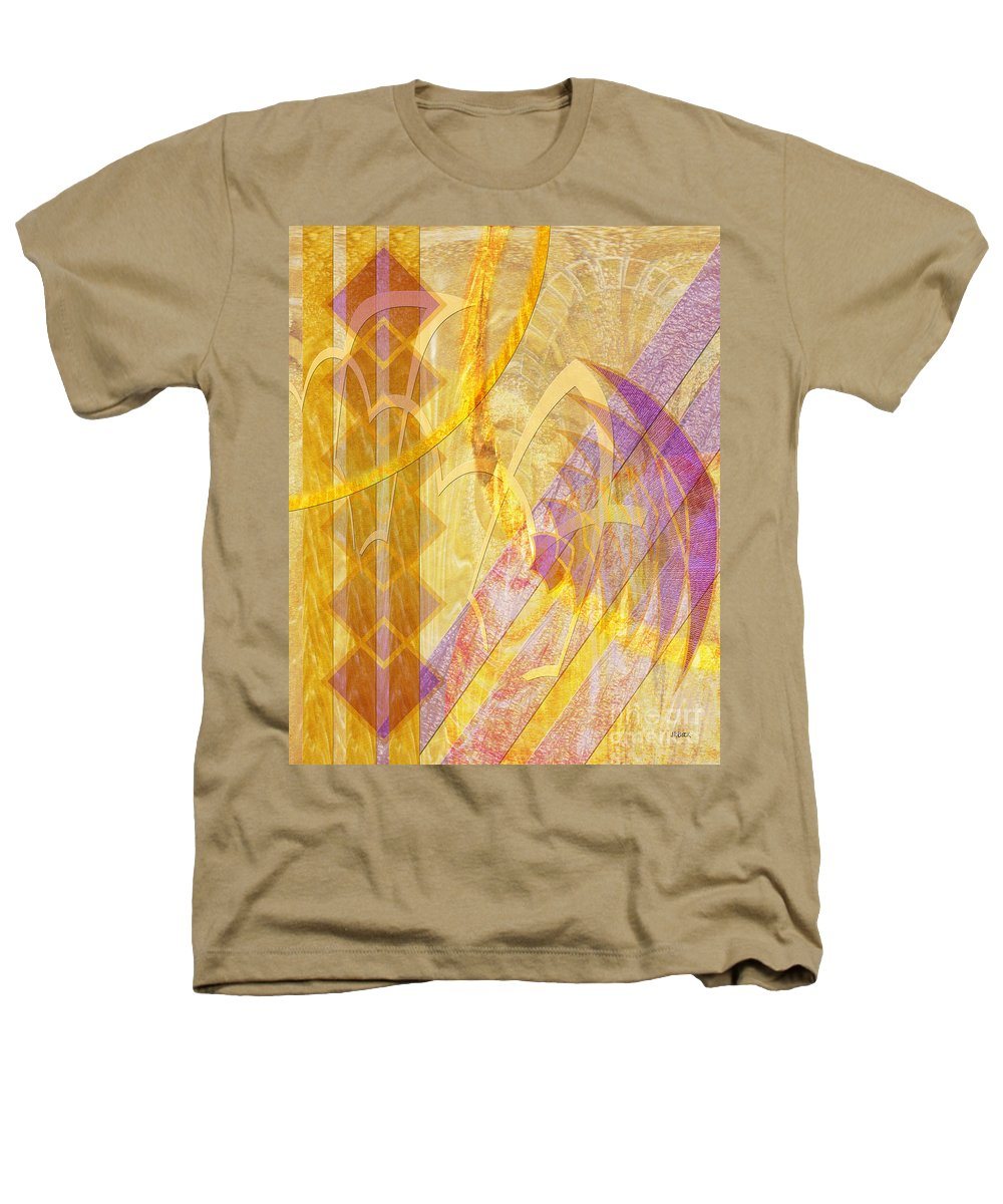Gold Fusion Heathers T-Shirt featuring the digital art Gold Fusion by John Beck