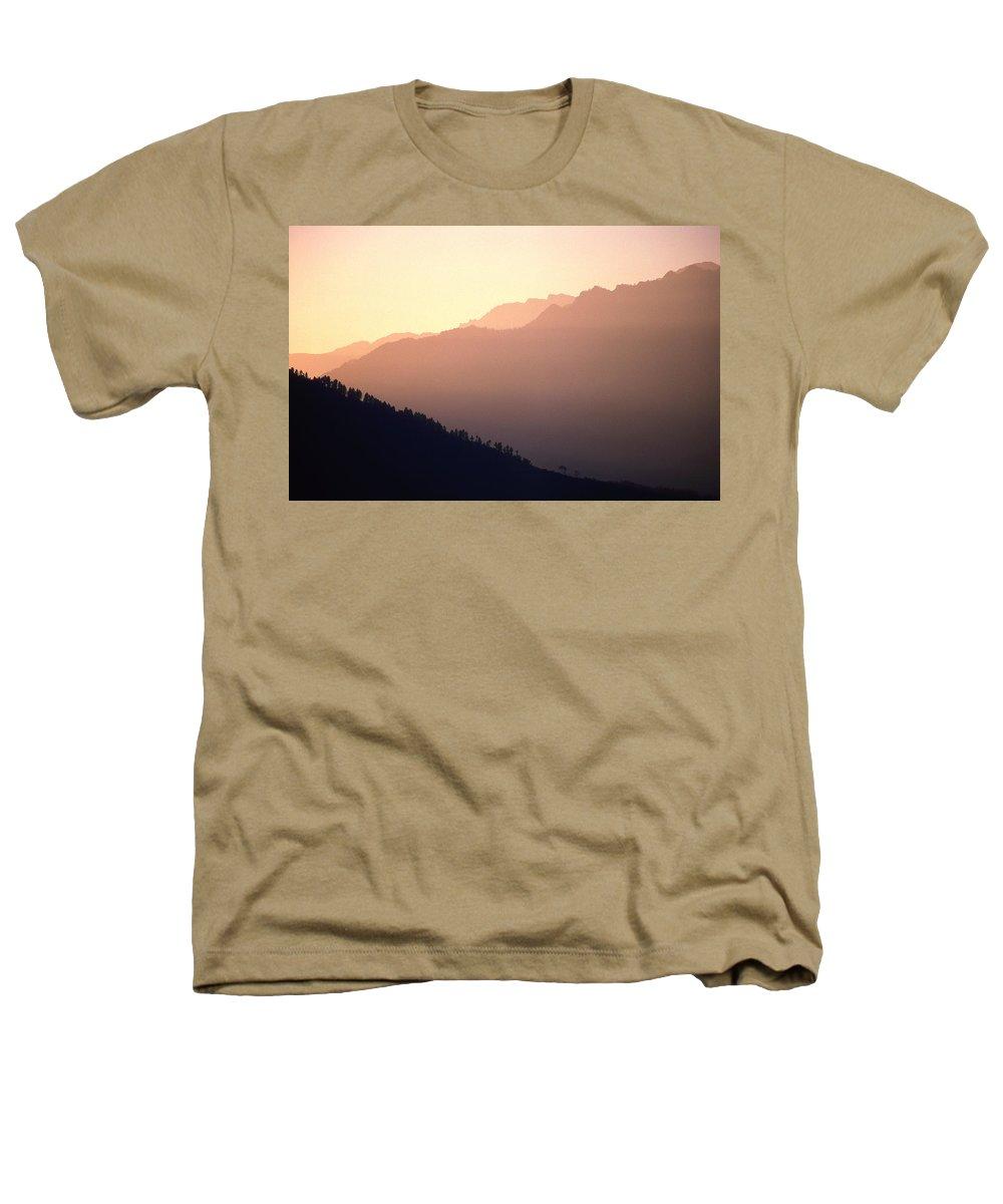 Langtang Heathers T-Shirt featuring the photograph Golden Mountains by Patrick Klauss
