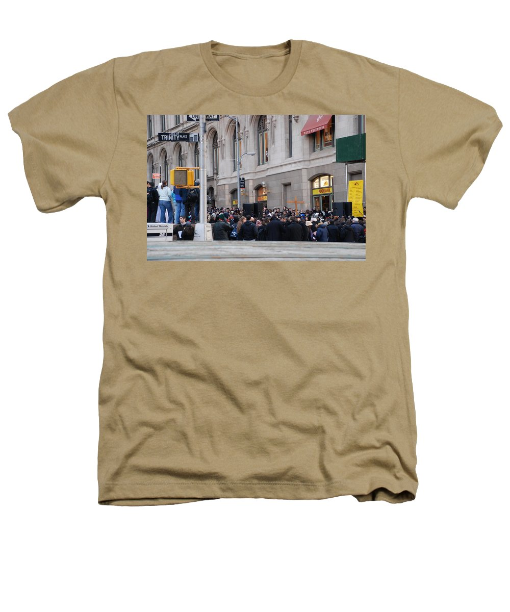Church Heathers T-Shirt featuring the photograph Good Friday On Trinity Place by Rob Hans