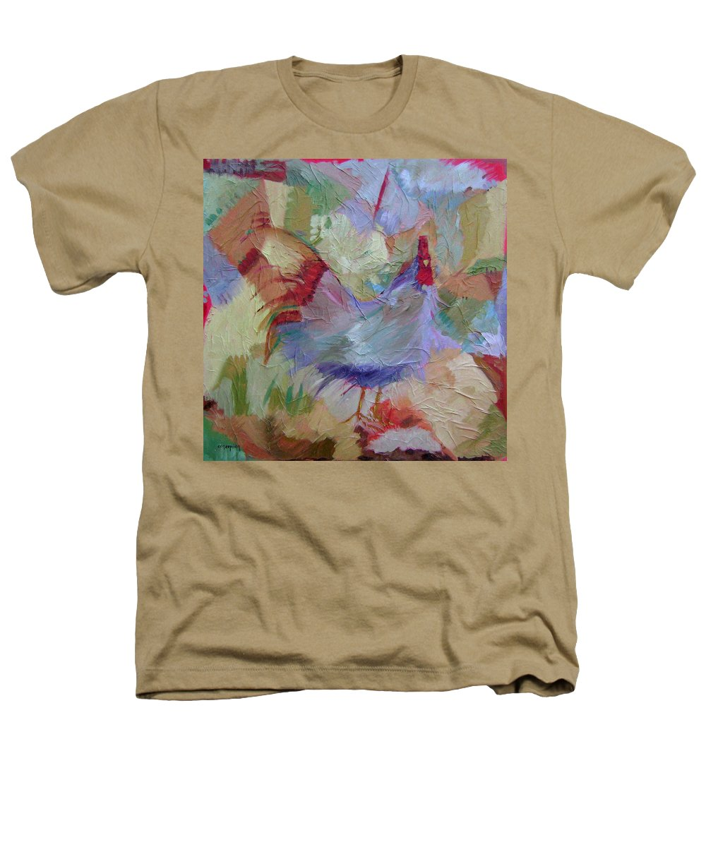 Chicken Paintings Heathers T-Shirt featuring the painting Good Morning by Ginger Concepcion
