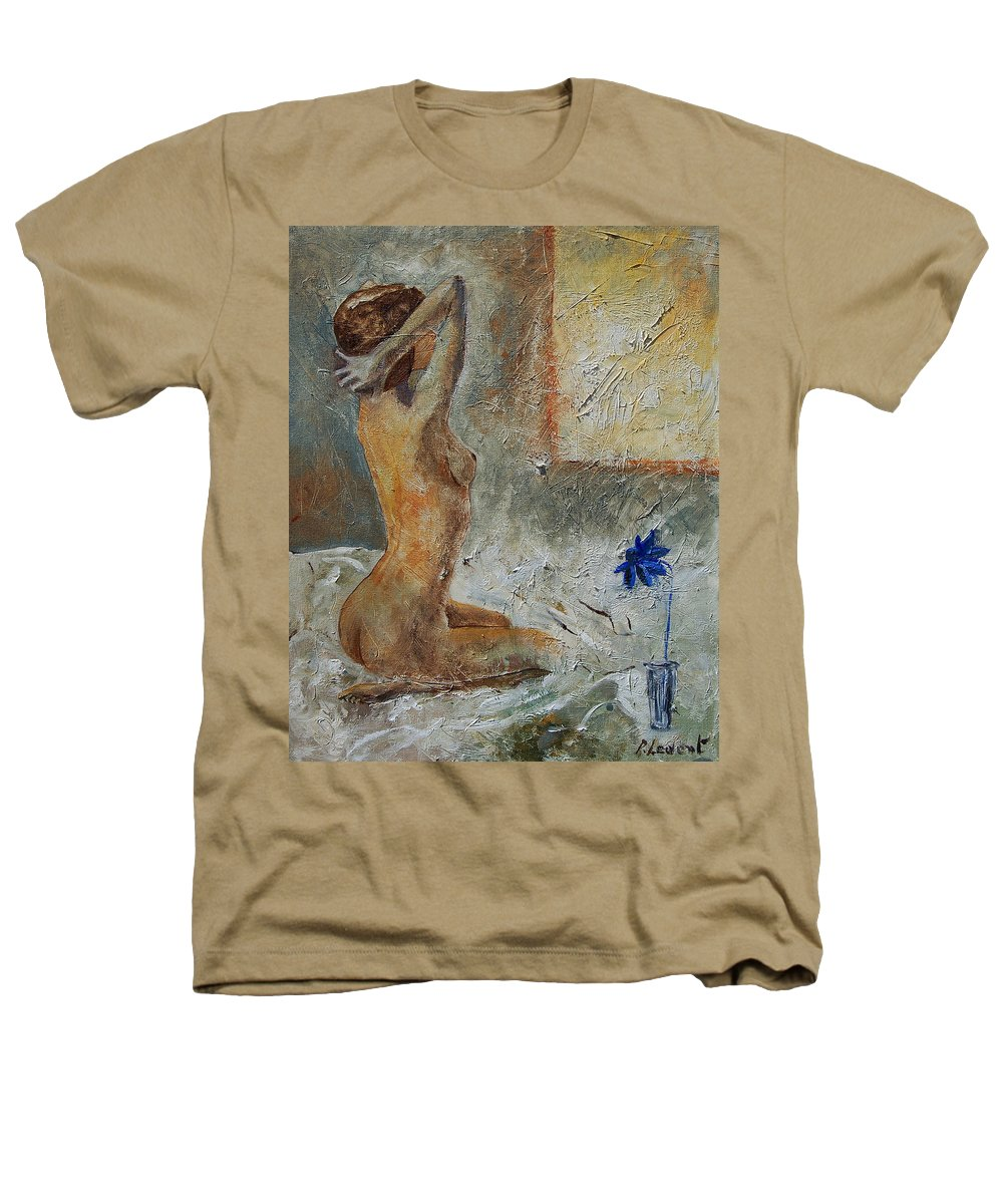Nude Heathers T-Shirt featuring the painting Good Morning Sunshine by Pol Ledent