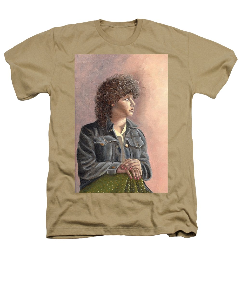 Heathers T-Shirt featuring the painting Grace by Toni Berry